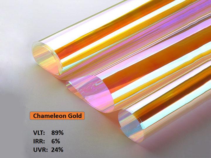 KPAL Chameleon Gold Building Decoration Glasfolie